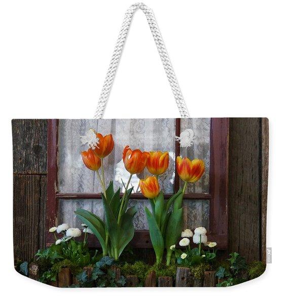 Windowbox Tulips Weekender Tote Bag