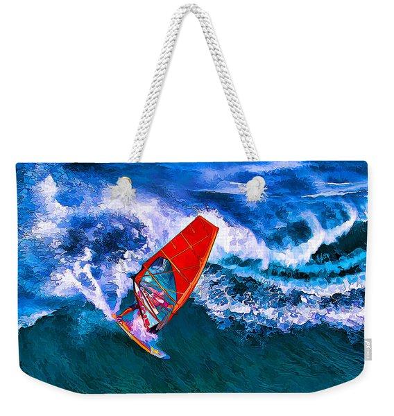 Windsurfer Joy Weekender Tote Bag
