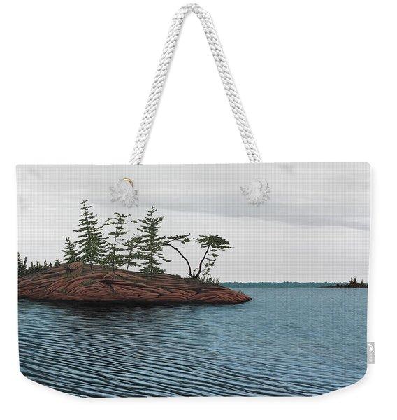 Windswept Island Georgian Bay Weekender Tote Bag