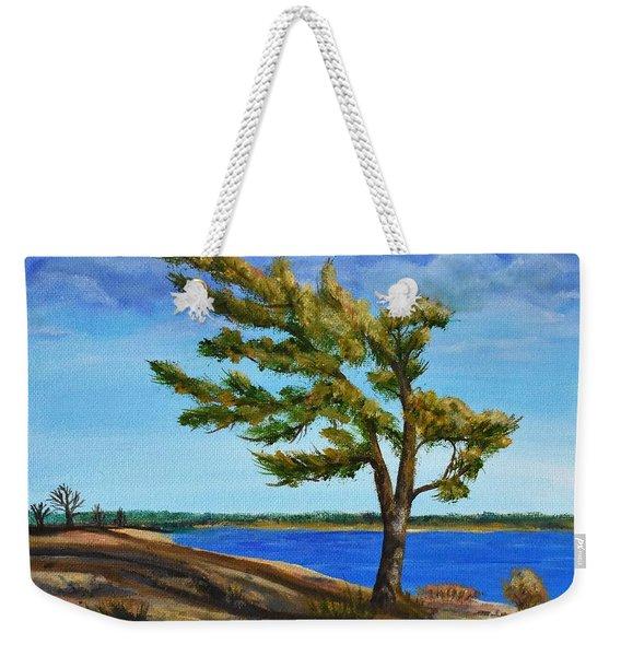 Windswept Tree Weekender Tote Bag
