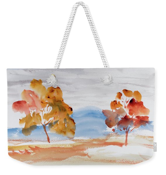 Windy Autumn Colours  Weekender Tote Bag