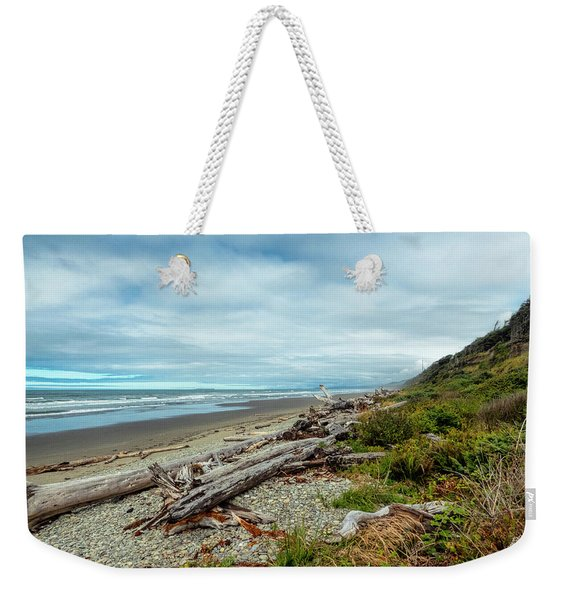 Weekender Tote Bag featuring the photograph Windy Beach In Oregon by Michael Hope