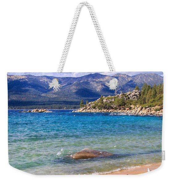 Windy Day At Lake Tahoe Weekender Tote Bag