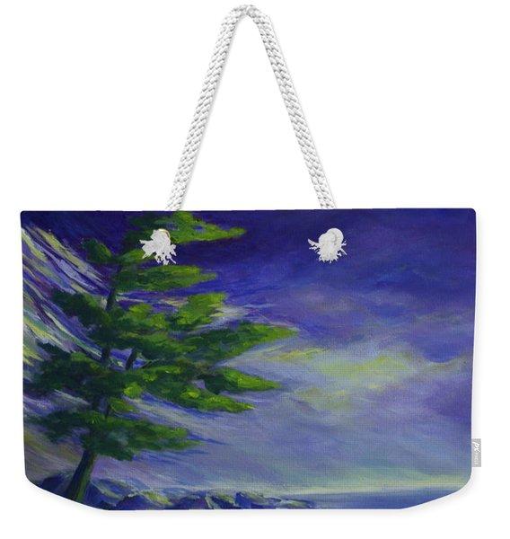 Windy Lake Superior Weekender Tote Bag