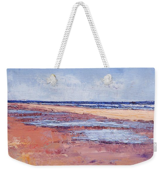 Windy October Beach Weekender Tote Bag