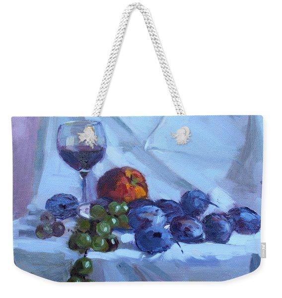 Wine And Fresh Fruits Weekender Tote Bag