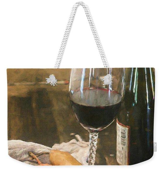 Wine And Pears Weekender Tote Bag