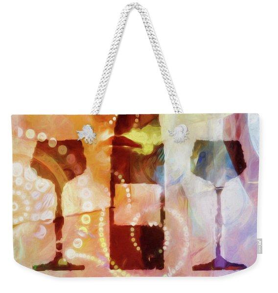 Wine For Two Weekender Tote Bag