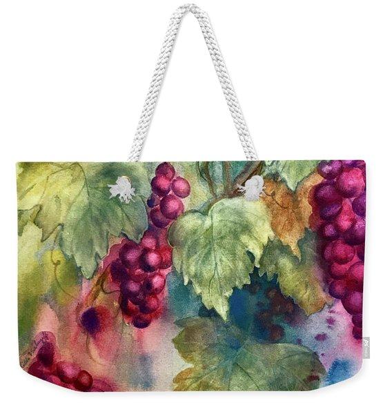 Wine Grapes Weekender Tote Bag
