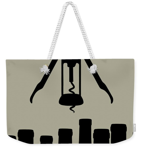 Wine Graphic Silhouette Weekender Tote Bag