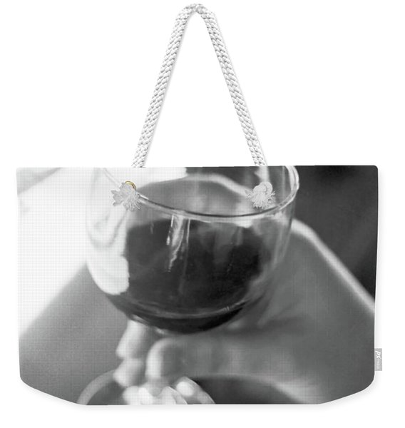 Weekender Tote Bag featuring the photograph Wine In Hand by Frank DiMarco