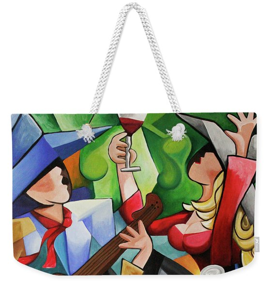 Wine Party Weekender Tote Bag