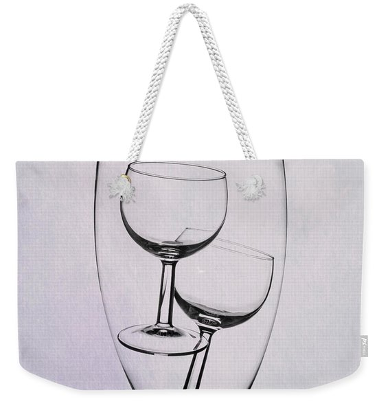 Wineglass Trio Weekender Tote Bag