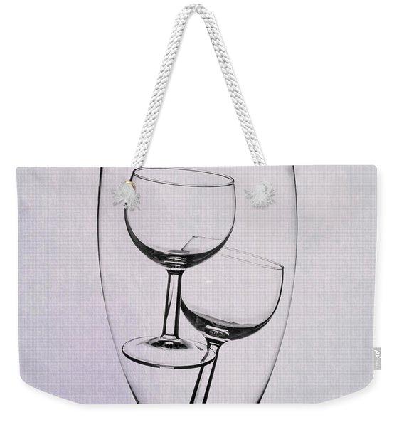 Wineglass Trio Weekender Tote Bag
