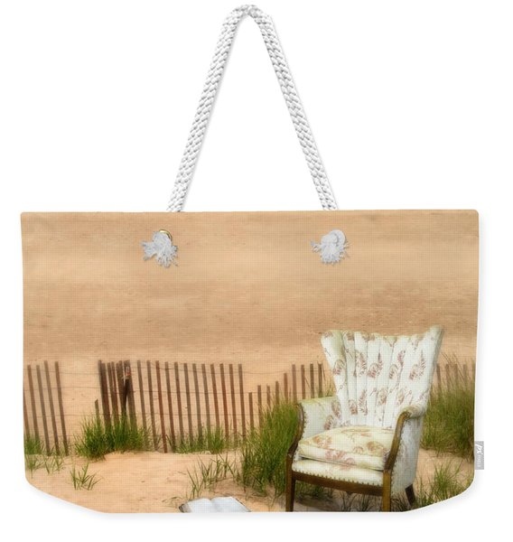Wingback Chair At The Beach Weekender Tote Bag