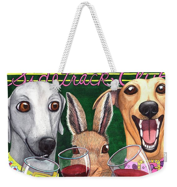 Wining With The Rabbit. Weekender Tote Bag