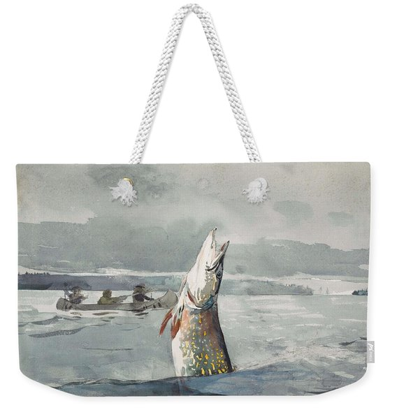 Winslow Homer   Pike  Lake St  John 189 7 Weekender Tote Bag
