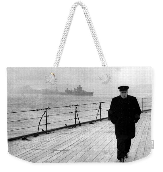 Winston Churchill At Sea Weekender Tote Bag
