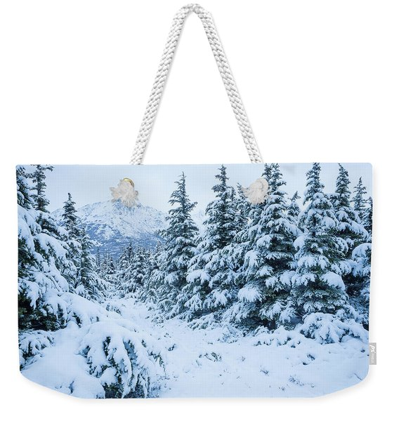 Weekender Tote Bag featuring the photograph Winter Arrives by Tim Newton
