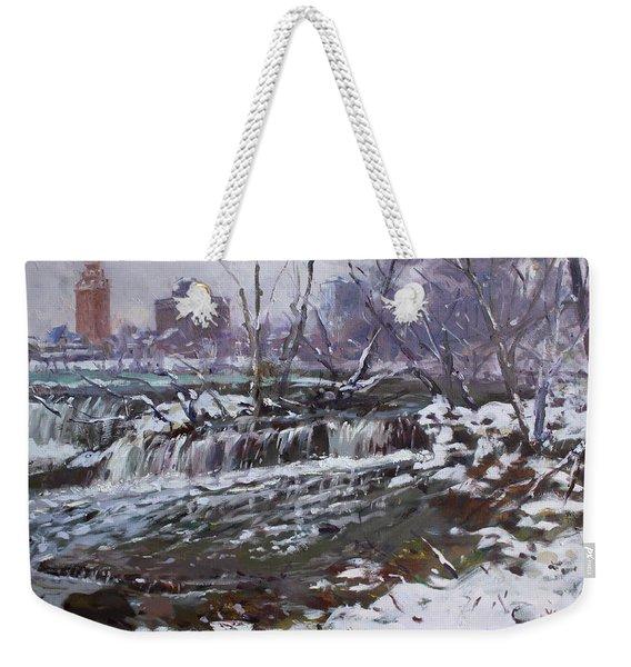 Winter At Goat Island Weekender Tote Bag