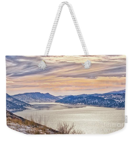 Winter At Horsetooth Reservior Weekender Tote Bag