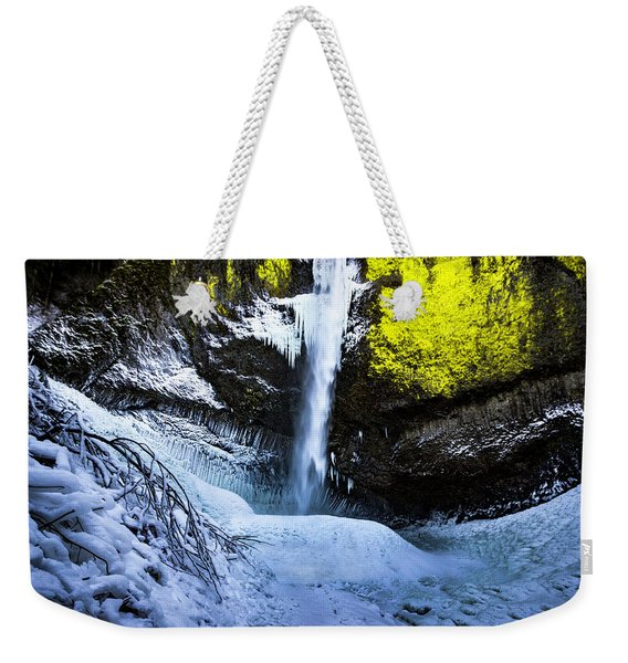 Winter At Latourell Falls Weekender Tote Bag