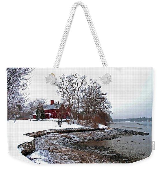 Winter At Perkins House  Weekender Tote Bag