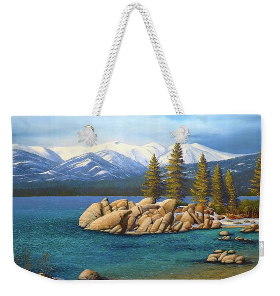 Winter At Sand Harbor Lake Tahoe Weekender Tote Bag