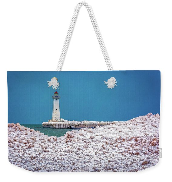 Winter At Sodus Point  Weekender Tote Bag