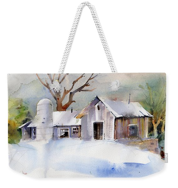 Winter Barn Weekender Tote Bag