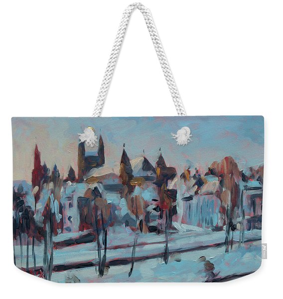 Winter Basilica Our Lady Maastricht Weekender Tote Bag