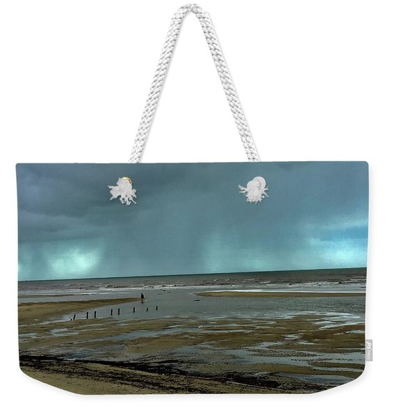 Weekender Tote Bag featuring the photograph Winter Beach by Debbie Cundy