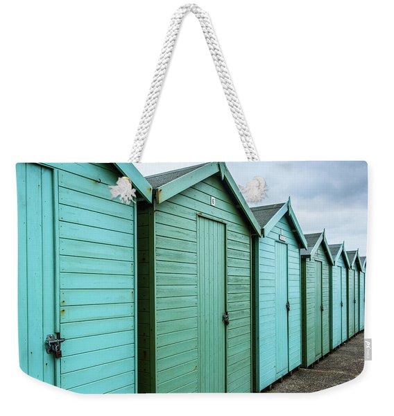 Winter Beach Huts IIi Weekender Tote Bag