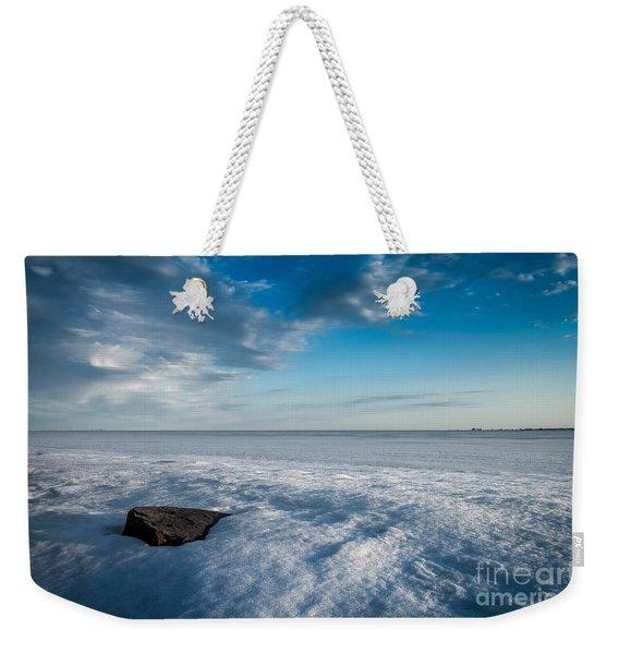 Winter Beach Weekender Tote Bag