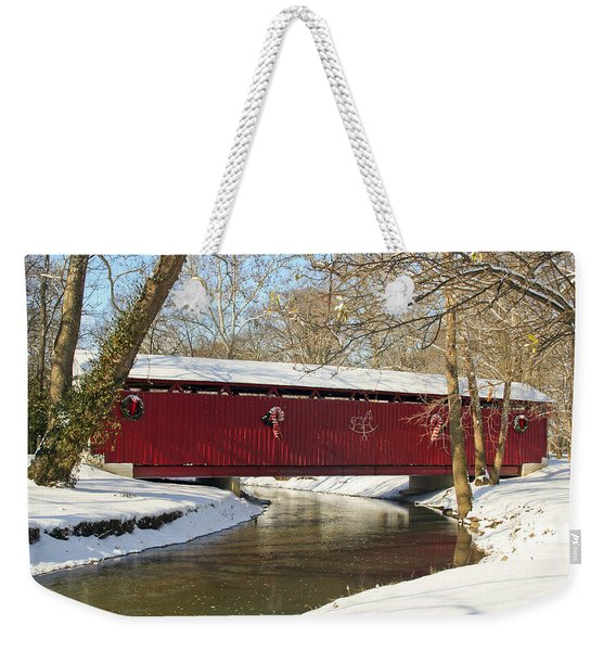 Winter Bridge  Weekender Tote Bag