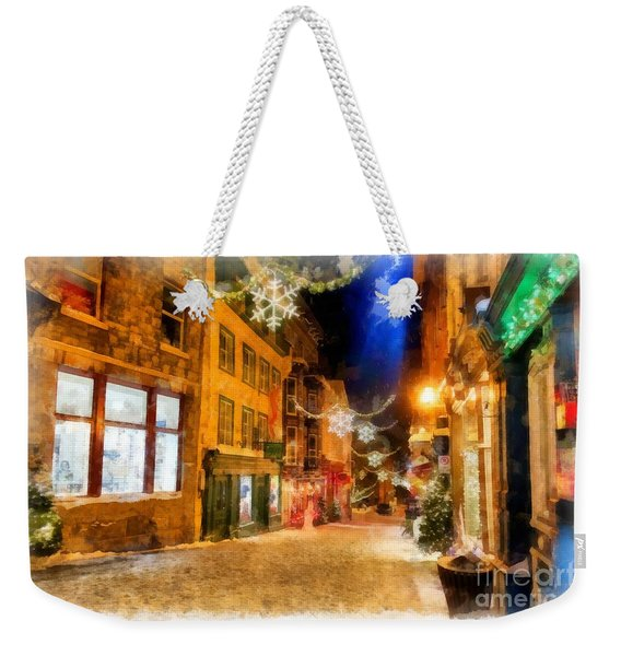 Winter Carnival Old Quebec City Lower Town Weekender Tote Bag