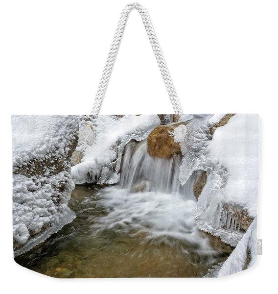 Winter Cascade Nh Weekender Tote Bag