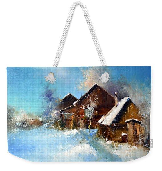Winter Cortyard Weekender Tote Bag