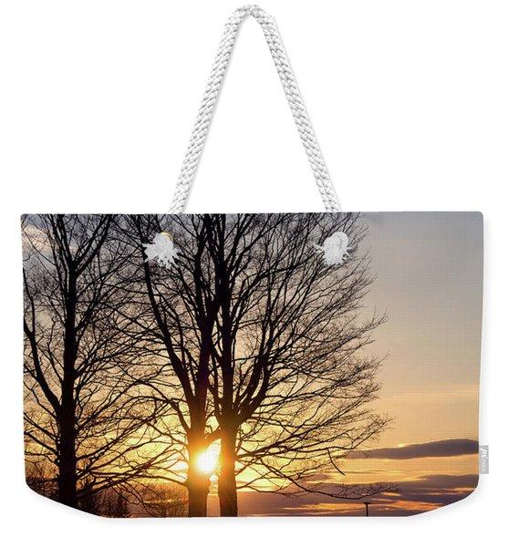 Winter, Crystal Spring Farm, Brunswick, Maine -78592 Weekender Tote Bag