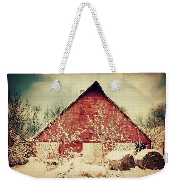 Winter Day On The Farm Weekender Tote Bag