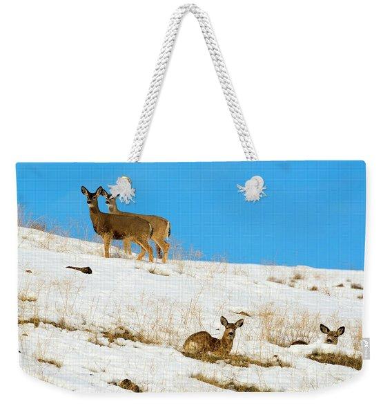 Winter Deer Weekender Tote Bag