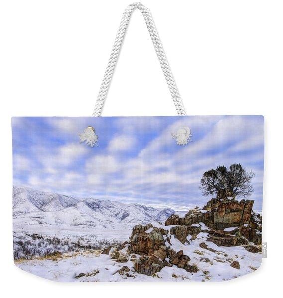 Winter Desert Weekender Tote Bag