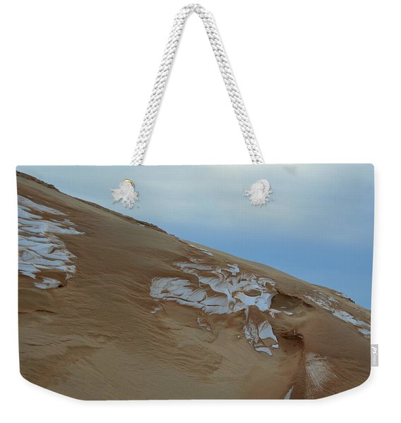 Winter Dune Weekender Tote Bag
