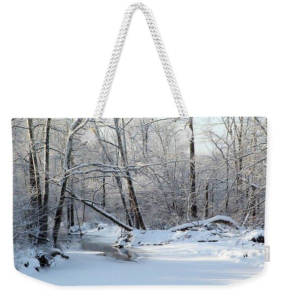 Winter End Weekender Tote Bag