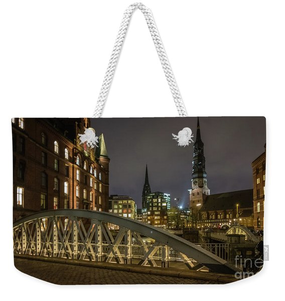 Winter Evening In Hamburg  Weekender Tote Bag