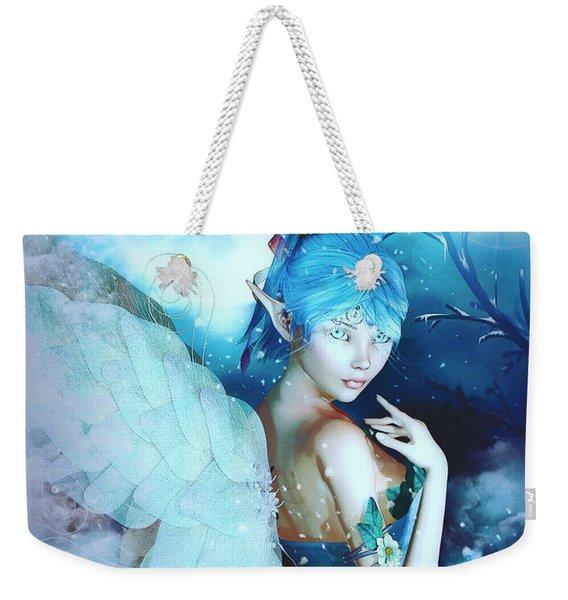 Winter Fairy In The Mist Weekender Tote Bag