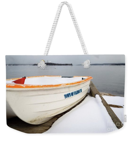 Weekender Tote Bag featuring the photograph Winter, Falmouth, Maine  -18674 by John Bald