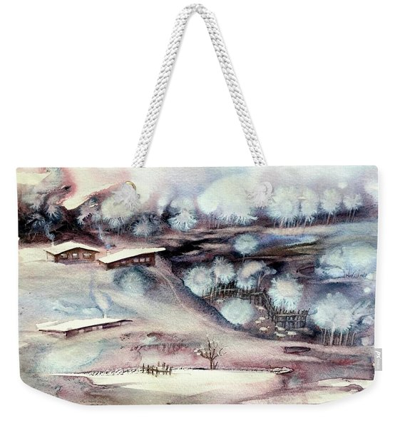 Winter Ferytale Weekender Tote Bag