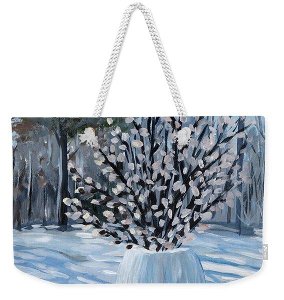 Winter Floral Weekender Tote Bag