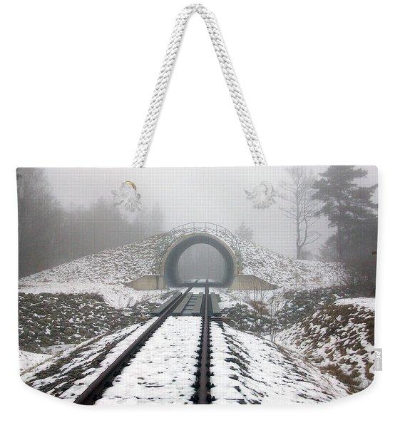 Winter Fog Weekender Tote Bag